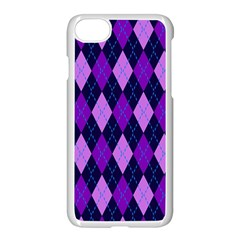 Tumblr Static Argyle Pattern Blue Purple Apple Iphone 7 Seamless Case (white)