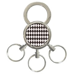 Tumblr Static Argyle Pattern Gray Brown 3 Ring Key Chains by Jojostore