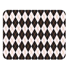 Tumblr Static Argyle Pattern Gray Brown Double Sided Flano Blanket (large)