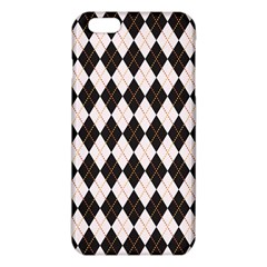 Tumblr Static Argyle Pattern Gray Brown Iphone 6 Plus/6s Plus Tpu Case