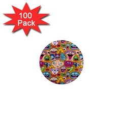 Smiley Pattern 1  Mini Magnets (100 Pack)  by Jojostore