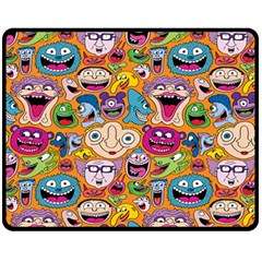 Smiley Pattern Fleece Blanket (medium)  by Jojostore
