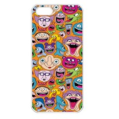 Smiley Pattern Apple Iphone 5 Seamless Case (white) by Jojostore