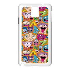 Smiley Pattern Samsung Galaxy Note 3 N9005 Case (white)