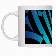 Turtle Swimming Black Blue Sea White Mugs by Jojostore
