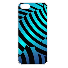 Turtle Swimming Black Blue Sea Apple Iphone 5 Seamless Case (white)