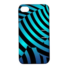 Turtle Swimming Black Blue Sea Apple Iphone 4/4s Hardshell Case With Stand by Jojostore