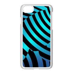Turtle Swimming Black Blue Sea Apple Iphone 7 Seamless Case (white) by Jojostore