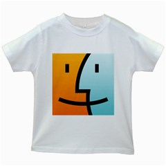 Two Fafe Orange Blue Kids White T Shirts