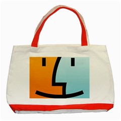 Two Fafe Orange Blue Classic Tote Bag (red) by Jojostore