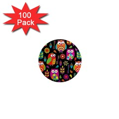 Ultra Soft Owl 1  Mini Magnets (100 Pack)  by Jojostore
