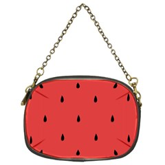 Watermelon Seeds Red Chain Purses (two Sides)  by Jojostore