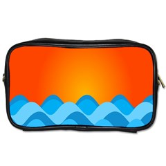 Water Orange Toiletries Bags 2 Side by Jojostore