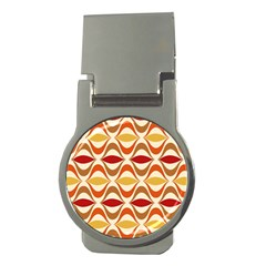 Wave Orange Red Yellow Rainbow Money Clips (round)