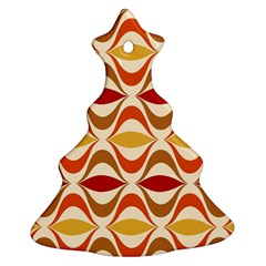 Wave Orange Red Yellow Rainbow Christmas Tree Ornament (2 Sides)