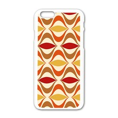 Wave Orange Red Yellow Rainbow Apple Iphone 6/6s White Enamel Case by Jojostore