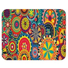Tumblr Static Colorful Double Sided Flano Blanket (medium)