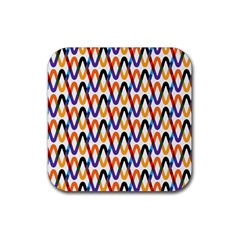 Wave Rope Rubber Square Coaster (4 Pack)