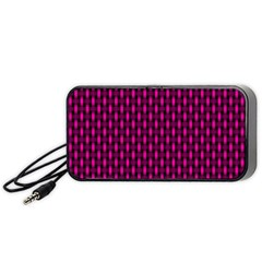 Webbing Woven Bamboo Pink Portable Speaker (black)