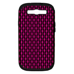 Webbing Woven Bamboo Pink Samsung Galaxy S Iii Hardshell Case (pc+silicone)