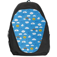 White Clouds Backpack Bag by Jojostore