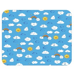 White Clouds Double Sided Flano Blanket (medium)  by Jojostore
