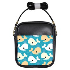 Whole Sea Animals Girls Sling Bags