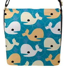 Whole Sea Animals Flap Messenger Bag (s) by Jojostore