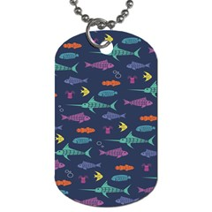 Twiddy Tropical Fish Pattern Dog Tag (two Sides)