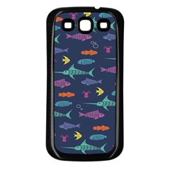 Twiddy Tropical Fish Pattern Samsung Galaxy S3 Back Case (black)