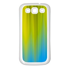 Yellow Blue Green Samsung Galaxy S3 Back Case (white)