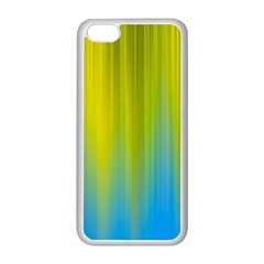 Yellow Blue Green Apple Iphone 5c Seamless Case (white) by Jojostore