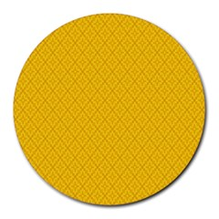 Yellow Flower Round Mousepads by Jojostore