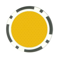 Yellow Flower Poker Chip Card Guards (10 Pack)