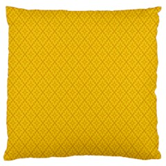 Yellow Flower Large Flano Cushion Case (one Side)