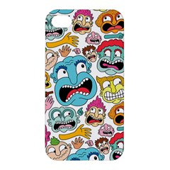 Weird Faces Pattern Apple Iphone 4/4s Premium Hardshell Case
