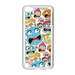 Weird Faces Pattern Apple Ipod Touch 5 Case (white) by Jojostore