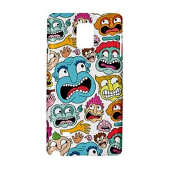 Weird Faces Pattern Samsung Galaxy Note 4 Hardshell Case