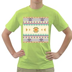 Your First Aztec Pattern Green T-shirt by Jojostore