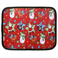 Xmas Santa Clause Netbook Case (large) by Jojostore