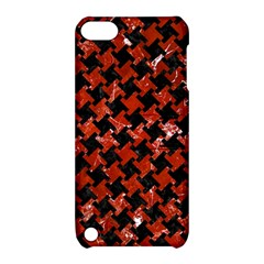 Houndstooth2 Black Marble & Red Marble Apple Ipod Touch 5 Hardshell Case With Stand by trendistuff