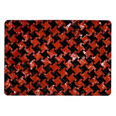 Houndstooth2 Black Marble & Red Marble Samsung Galaxy Tab 10 1  P7500 Flip Case by trendistuff