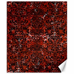 Damask2 Black Marble & Red Marble (r) Canvas 20  X 24