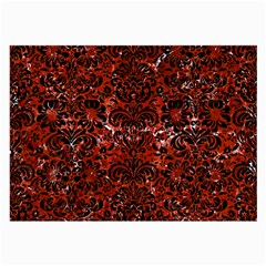 Damask2 Black Marble & Red Marble (r) Large Glasses Cloth by trendistuff