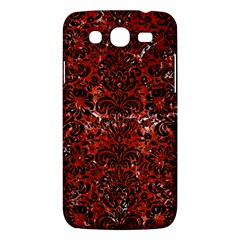Damask2 Black Marble & Red Marble (r) Samsung Galaxy Mega 5 8 I9152 Hardshell Case  by trendistuff