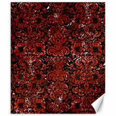 Damask2 Black Marble & Red Marble Canvas 20  X 24