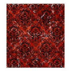 Damask1 Black Marble & Red Marble (r) Shower Curtain 66  X 72  (large) by trendistuff