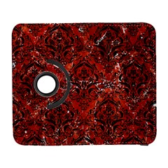 Damask1 Black Marble & Red Marble (r) Samsung Galaxy S  Iii Flip 360 Case by trendistuff