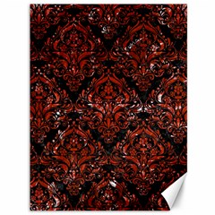 Damask1 Black Marble & Red Marble Canvas 36  X 48