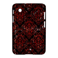 Damask1 Black Marble & Red Marble Samsung Galaxy Tab 2 (7 ) P3100 Hardshell Case  by trendistuff